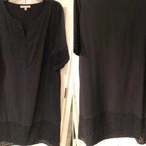 Gibson & Latimer Black Sheath Dress XL